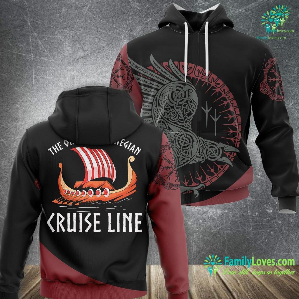 Vikings Historical Accuracy Viking Ship Cruise Norwegian Line Viking Unisex Hoodie All Over Print Familyloves.com