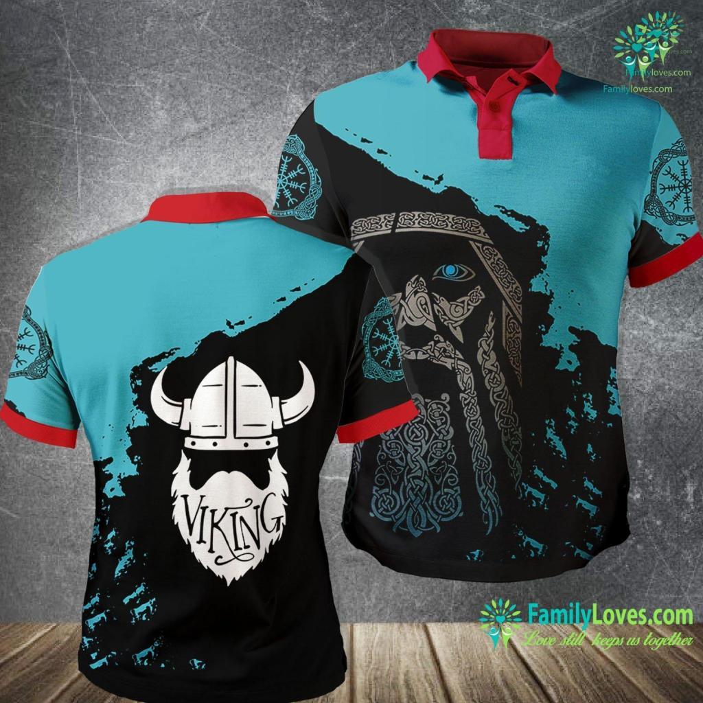 Where Did The Vikings Live Bearded Viking Viking Polo Shirt All Over Print Familyloves.com