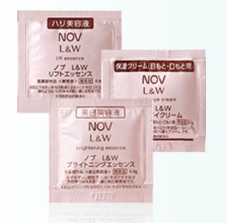 【NOV(ノブ)】低刺激性スキンケアサンプル L&W