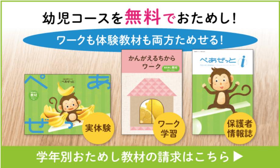 Z会 幼児コース 無料お試しプレゼント内容 幼児向け通信教育の無料お試しプリント教材