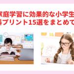 【2020】家庭学習に効果的な小学生の無料プリント15選をまとめてみた