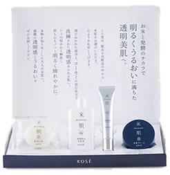 【KOSE】米肌-潤い美白体感セット-実際の化粧品