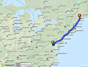 This route does require tolls.