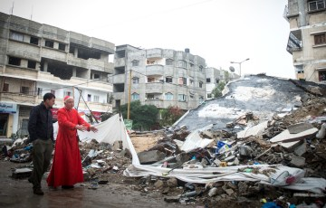 Cardinal's first visit to Gaza: Dramatic, traumatic, shocking