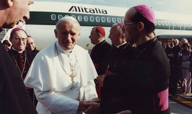 Pope John Paul II's welcome address at Gatwick Airport