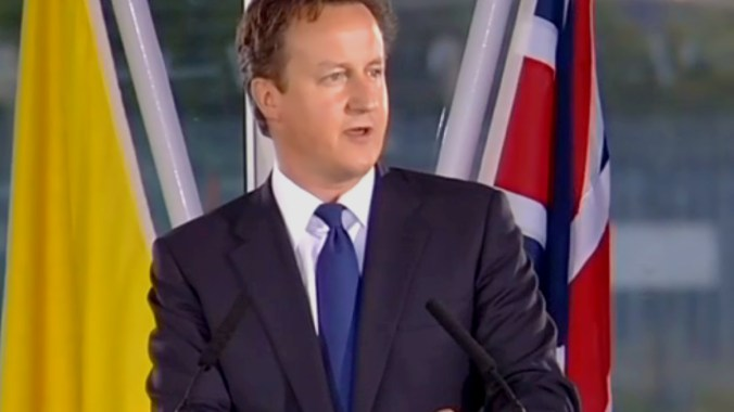Prime Minister David Cameron's speech to Pope Benedict XVI