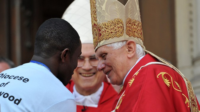 Welcome to Pope Benedict XVI on behalf of the young people