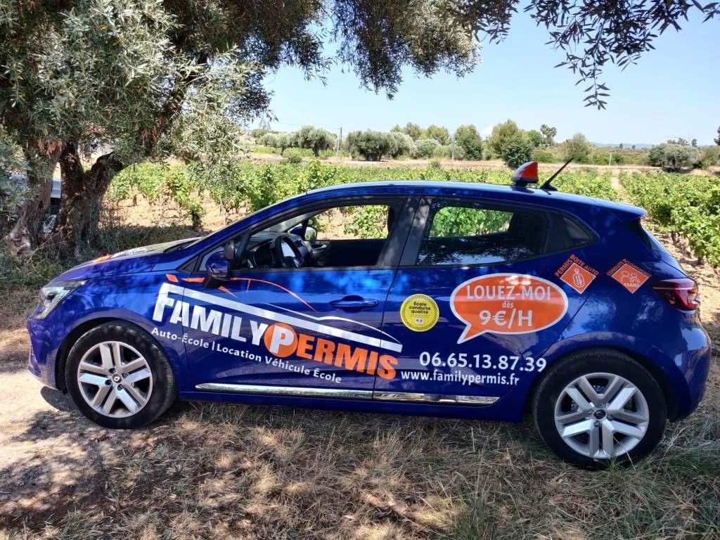 FAMILY PERMIS Location auto-école Location Véhicule Double Commande