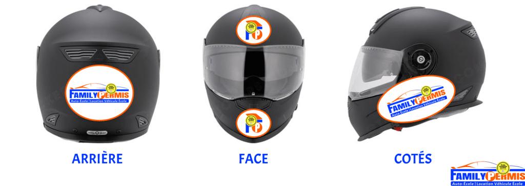 Bandes réfléchissantes autocollantes casque moto FAMILY PERMIS