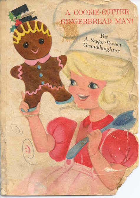 Front of Hallmark card with recipe