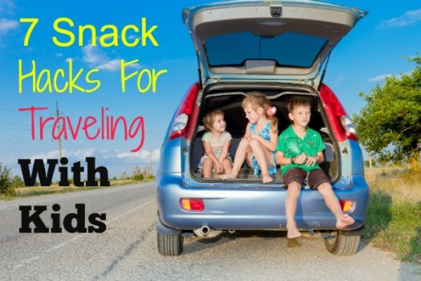 three happy kids in car, family trip, summer vacation travel