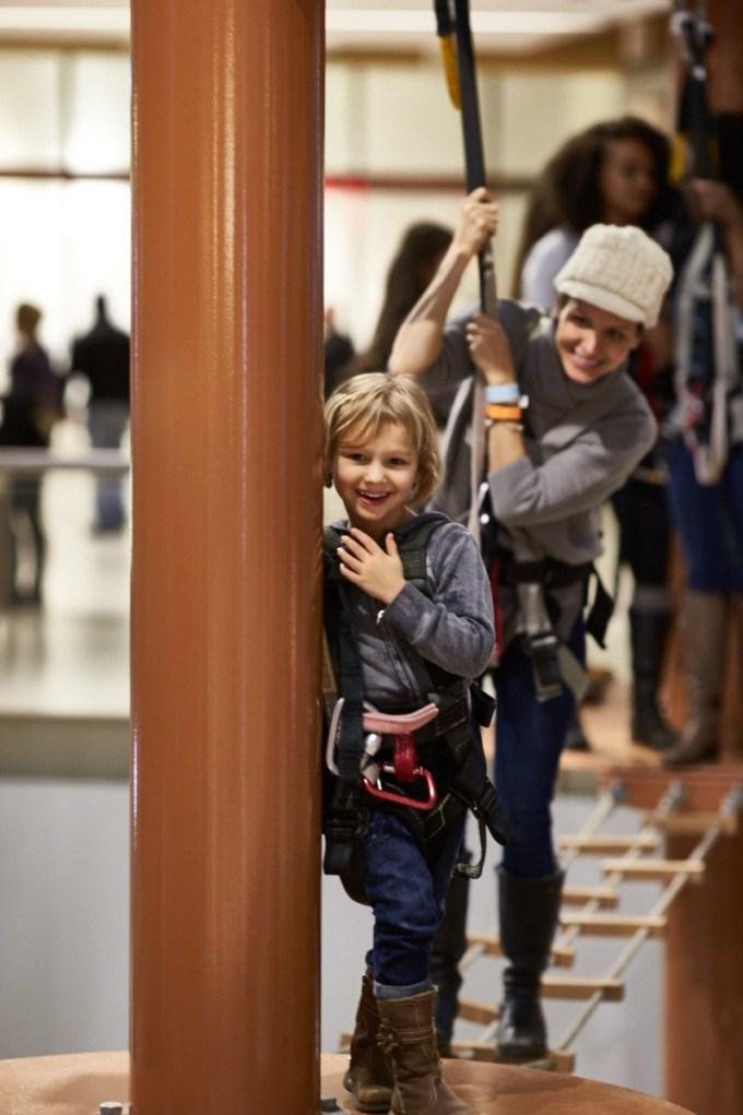 Brooklyn on Palisades Climb Adventure Ropes course Palisades Mall, West Nyack, NY © Monte Isom