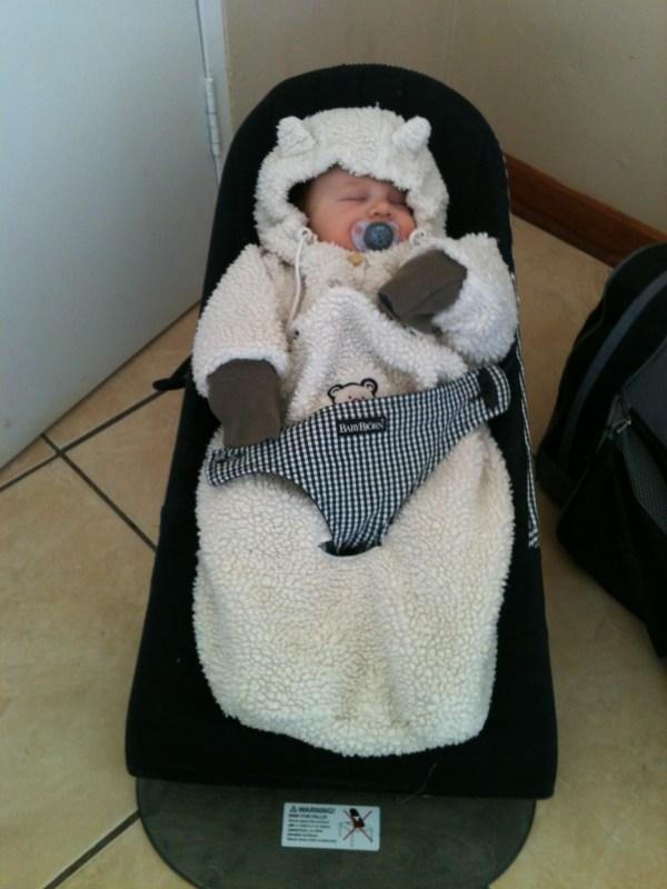 Samuel warm eingepackt