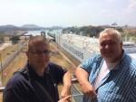 Beweis! Ich war am Panama Kanal! (mit meinem Chef, Andre)
