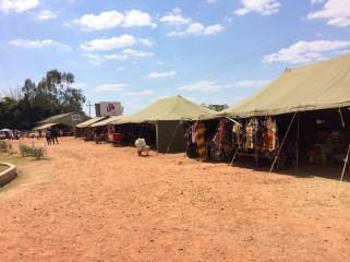 Zelte wurden für verschienste Aktivitäten aufgestellt.