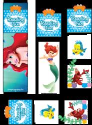 bookmarks mermaid disney printables printable birthday ariel animated movie coloring familyshoppingbag skgaleana pages party invitations sirene petite mermaids print princess