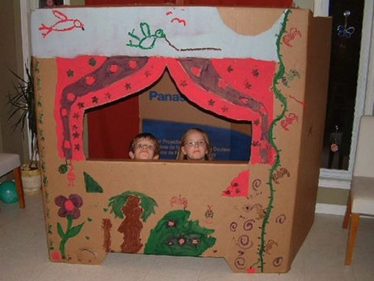 Teatro de marionetas de cartón