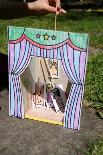 Teatrillo de marionetas de papel