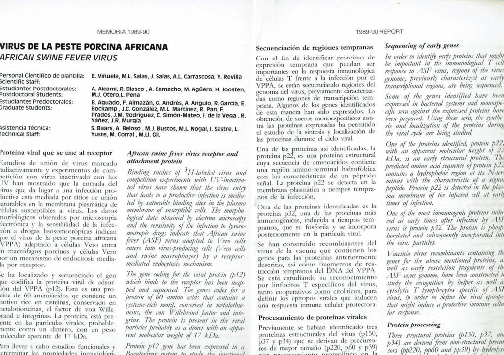 Publicación sobre el Virus de la Peste Porcina Africana (VPPA)