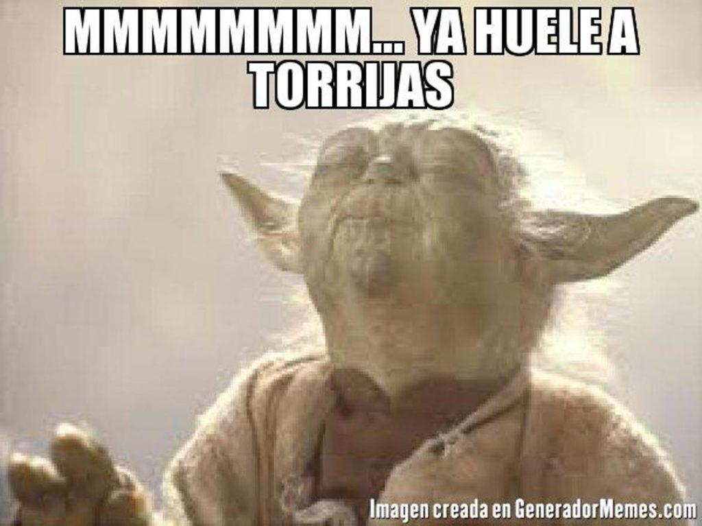 Ya huele a torrijas según Yoda