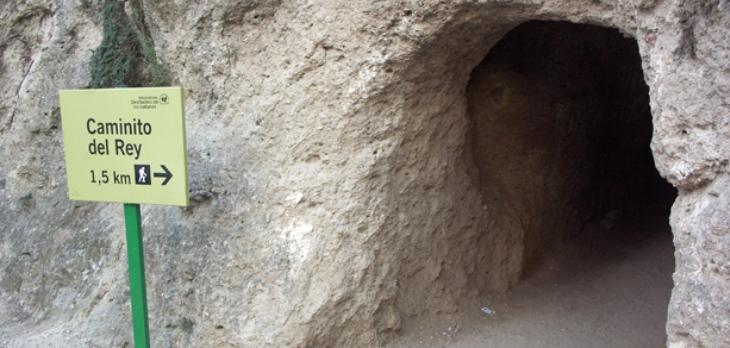 Caminito del Rey Málaga acceso tunel largo