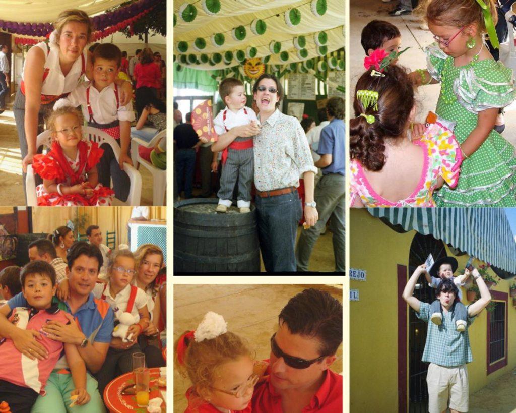 Diversos momentos familiares en la Feria de Córdoba