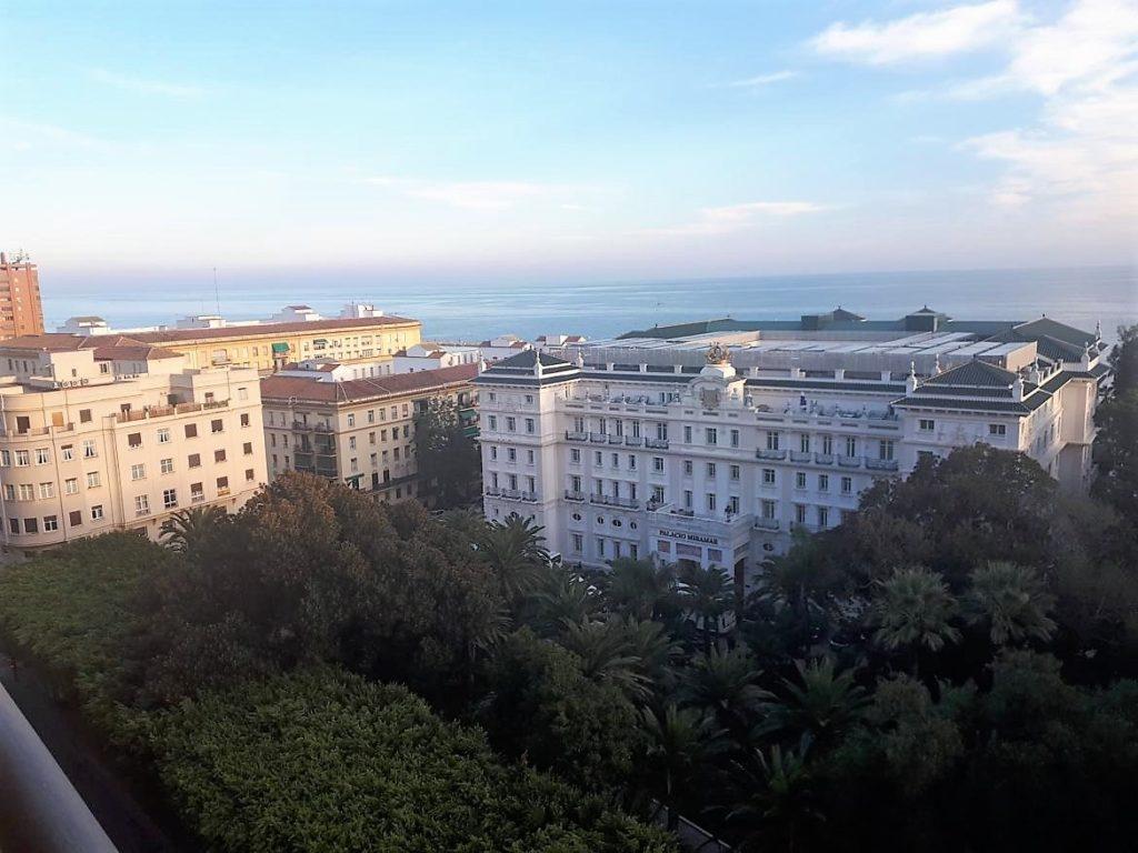 Vistas de uno de los alojamientos más lujosos de Málaga, El Gran Hotel Miramar