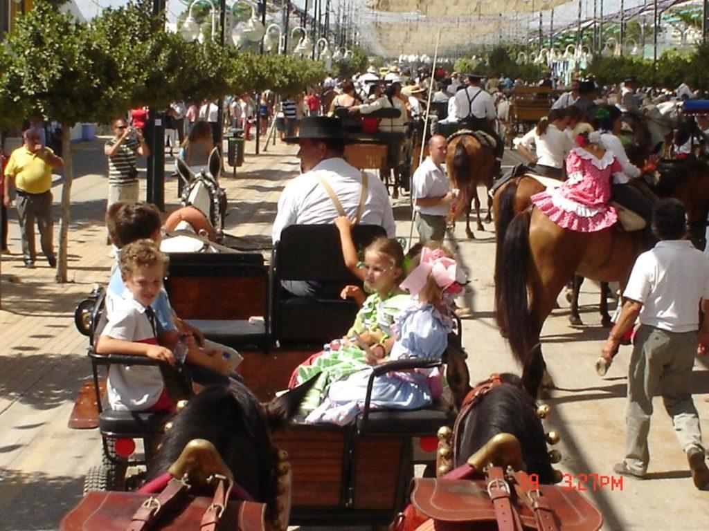 Paseo en coche de caballos por la Feria