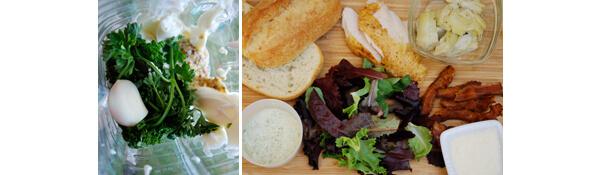 Chicken Caesar Club Sandwich Detail