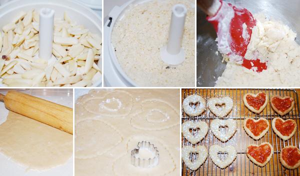 Linzer Heart Sandwich Cookies  Detail