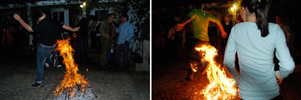 To ward off evil, Iranians jump over fire for Chahr-Shambeh Souri (FamilySpice.com)
