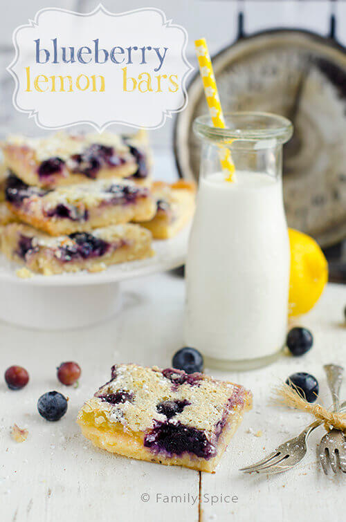 Blueberry Lemon Bars by FamilySpice.com