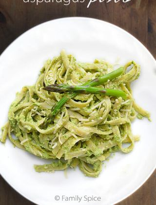 Asparagus Pesto with Lemon and Mint