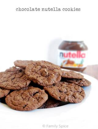 Sinful Chocolate Nutella Cookies
