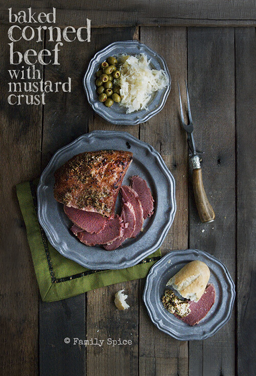 Don't Boil It - Baked Corned Beef with Mustard Crust! by FamilySpice.com