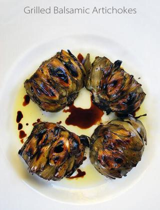 Irresistible Grilled Balsamic Artichokes