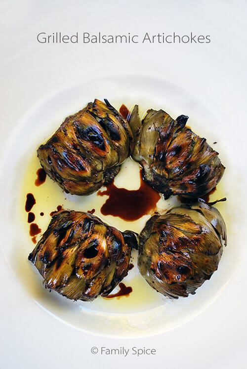 Grilled Balsamic Artichoke by FamilySpice.com