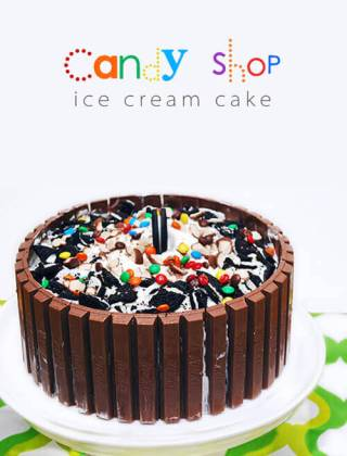 Candy Shop Kit Kat Ice Cream Cake by FamilySpice.com