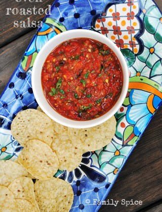 Oven Roasted Tomato Salsa
