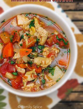 Hearty and Healthy Manhattan Clam Chowder