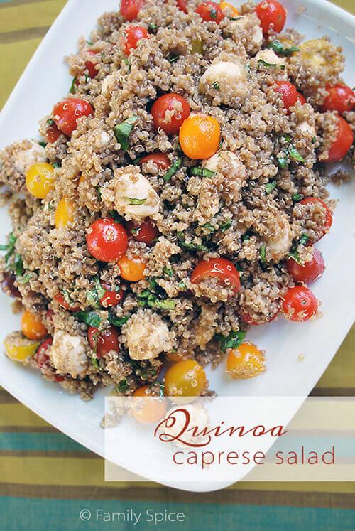Quinoa Caprese Salad by FamilySpice.com