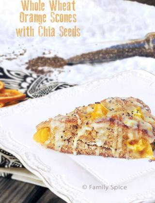 Whole Wheat Orange Scones with Chia Seeds