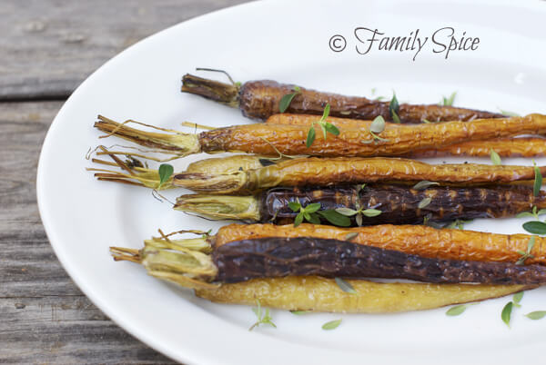 Farm to Table: Roasted Baby Carrots with Thyme by FamilySpice.com