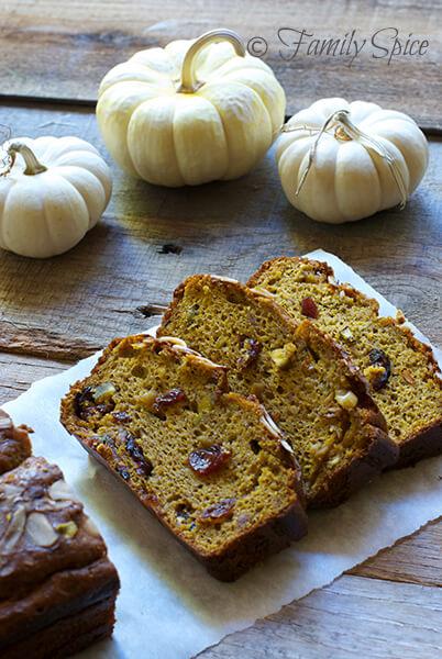 Unprocessed and Gluten-Free Pumpkin Bread by FamilySpice.com