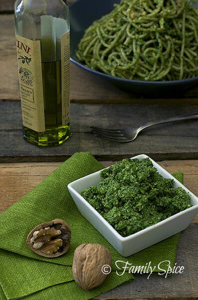 Kale Pesto with Tarragon and Walnuts