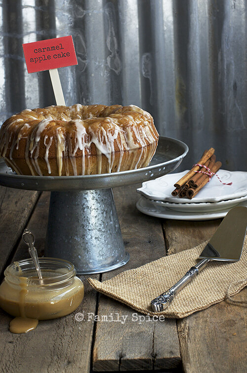Caramel Apple Bundt Cake by FamilySpice.com