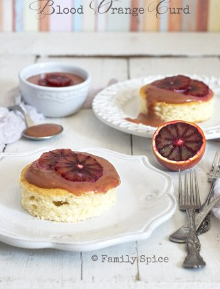 Blood Orange Curd with White Cake by FamilySpice.com