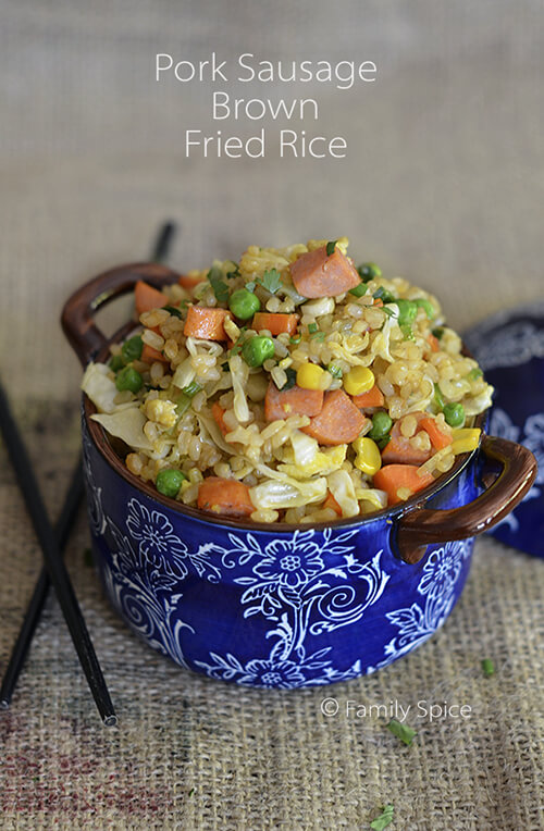 Kids Do Eat Real Food | Fried Brown Rice by FamilySpice.com