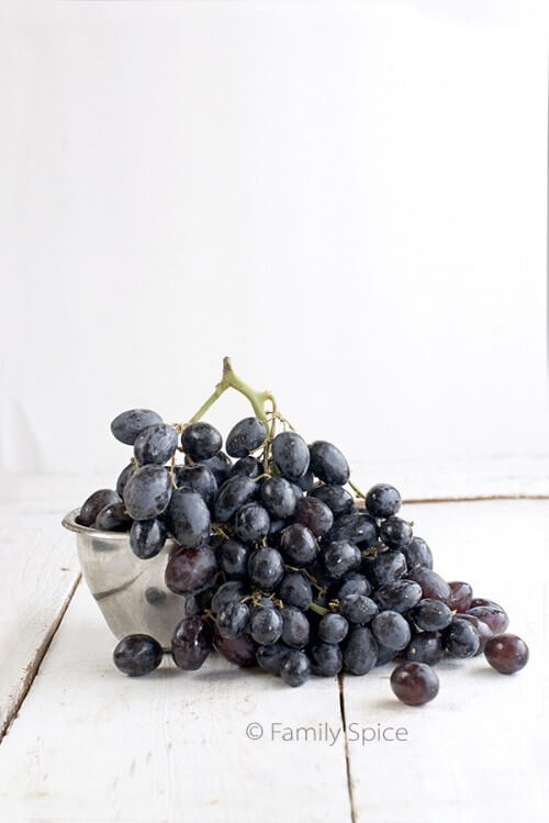 Black Grapes for Grape Upside-Down Cake with Balsamic Vinegar by FamilySpice.com