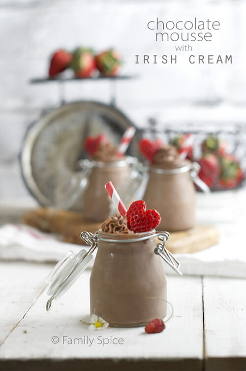 Dark Chocolate Mousse with Irish Cream by FamilySpice.com
